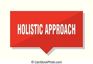 holistic approach red tag - holistic approach red square...