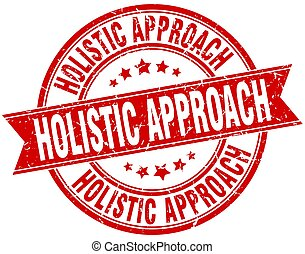 holistic approach round grunge ribbon stamp