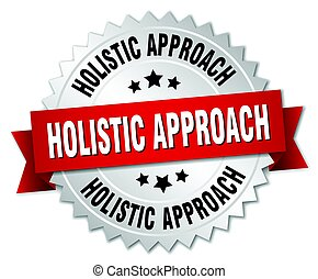 holistic approach round isolated silver badge