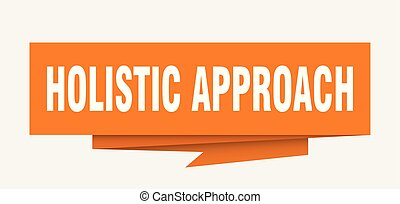 holistic approach sign. holistic approach paper origami...