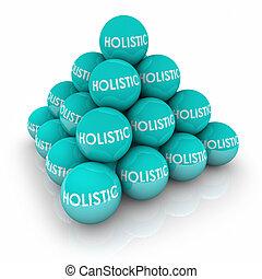 Holistic Balls Pyramid Stacked Whole Total Balance