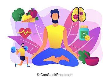 Holistic medicine concept vector illustration