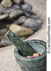 Holistic Mortar - Holistic mortar with rose hips