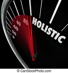 Holistic Speedometer Mind Body Health Balance Total Whole Approach
