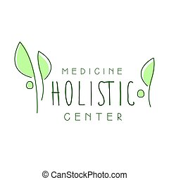 holistisk, centrera, symbol, illustration, vektor, medicin, logo