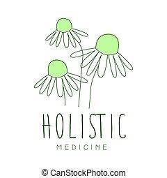 holistisk medicin, logo, symbol, vektor, illustration