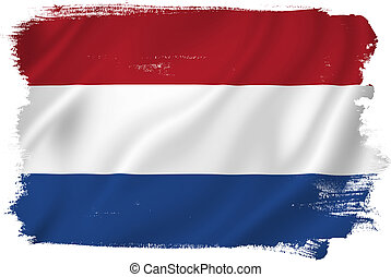 Holland flag backdrop background texture.
