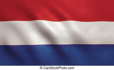 Holland Flag - Holland flag with fabric texture.