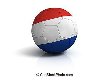 Holland football on white Background