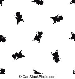 Holland map pattern seamless black