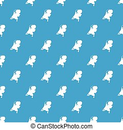 Holland map pattern seamless blue