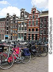 holland, nederland, hoofdstad, van, amsterdam