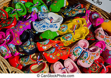 holland shoes - painted wooden shoes from Holland