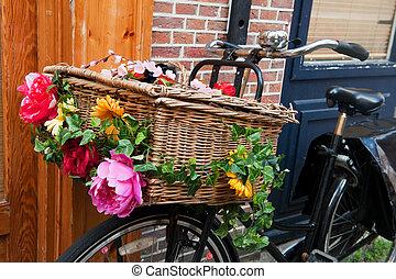 holland, szállít, bicikli