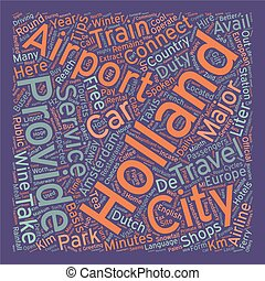 Holland text background wordcloud concept