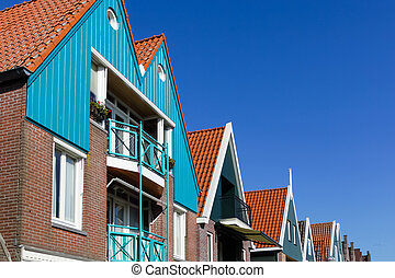 Holland, Volendam, old stone houses