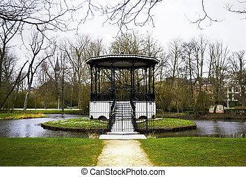 holland, vondelpark, meer