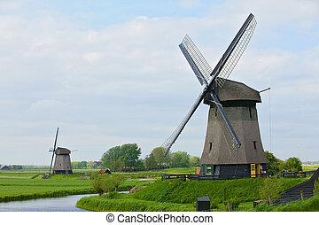 Holland Windmill - Windmill on the outskirts of Amsterdam. ...
