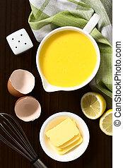 Hollandaise Sauce - Hollandaise sauce, a basic sauce of the...