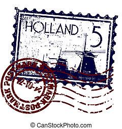 hollande, isolé, illustration, unique, vecteur, icône