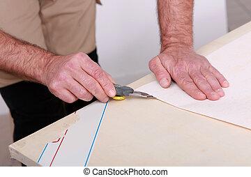 holle weg, papier, handyman