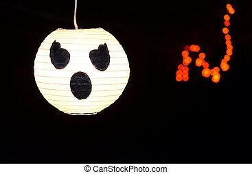 holloween, zucca, fantasma, decorazione