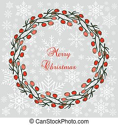 holly, 花冠, 樹, 聖誕節