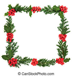 Holly and Juniper Wreath