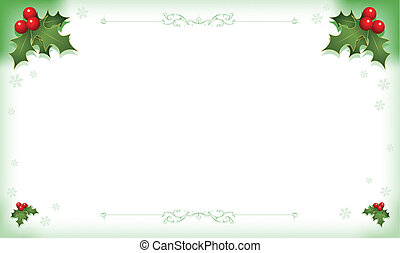 Holly Background - Illustration of holly background for...
