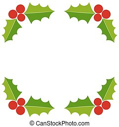 Holly berry Christmas border
