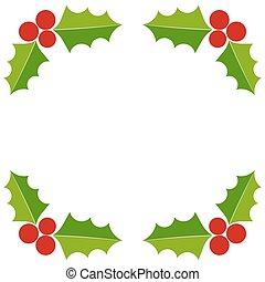 Holly berry Christmas border