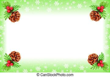Holly berry Christmas frame