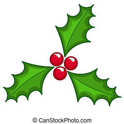 Holly berry Christmas icon