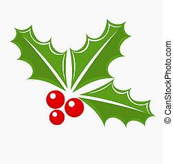 Holly berry Christmas symbol - Christmas holly berry symbol...