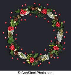 Holly Berry Christmas Wreath