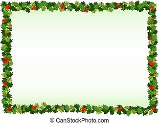 Holly Border Christmas Background Design Useful For