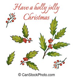 Holly Christmas Background