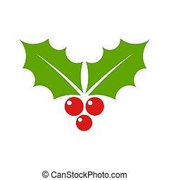 Holly Christmas symbol