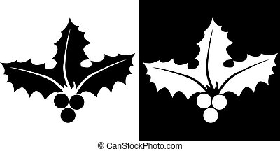 holly icon vector illustration image scalable to any size.