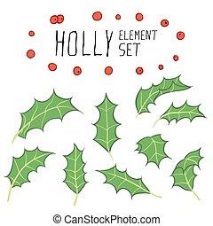 Holly, jogo, elemento
