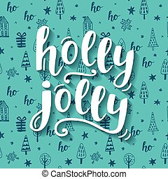 Holly Jolly Christmas greeting card