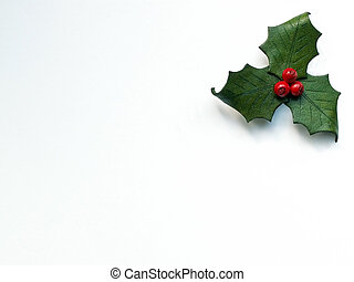 holly leaves and berries made from leather