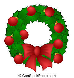 Holly Leaves Christmas Wreath