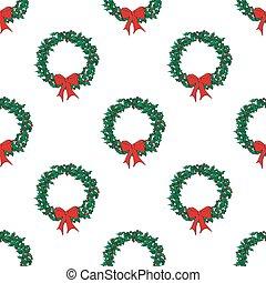 Holly wreath seamless.eps