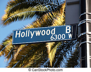 hollywood, blvd, palmas