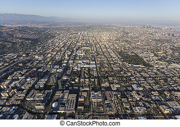 Hollywood California Afternoon Aerial