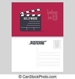 Hollywood clapper board vector illustration