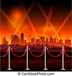 hollywood, czerwony dywan, tło