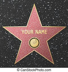 Hollywood Fame star