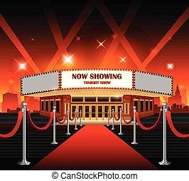 hollywood, film, czerwony dywan, film theater